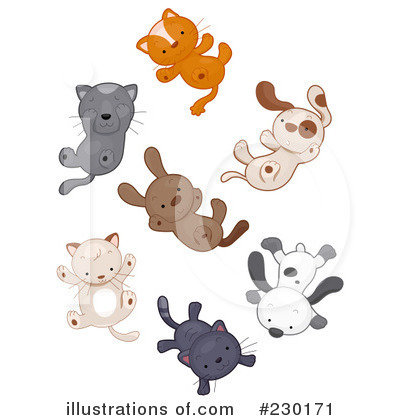 Raining Cats And Dogs Clipart #230171 - Illustration by BNP Design ...