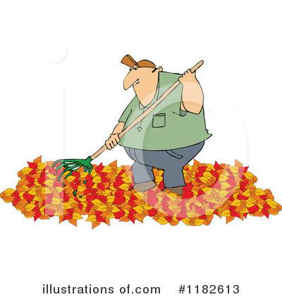 Raking Leaves Clipart 1182613 Illustration By Djart