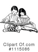 Reading Clipart #1115086 by Prawny Vintage