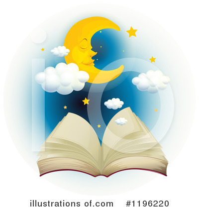 Open Book Clipart #1196220 by Graphics RF