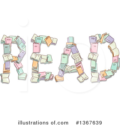 Royalty-Free (RF) Reading Clipart Illustration by BNP Design Studio - Stock Sample #1367639