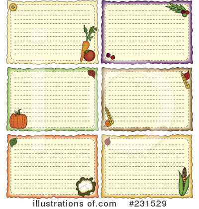 Recipe Card Clipart #231529 - Illustration by inkgraphics