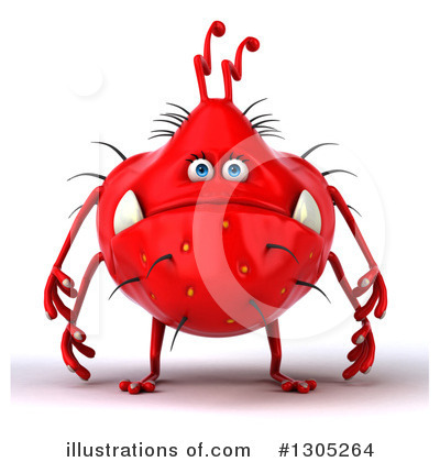 Red Virus Clipart #1305264 by Julos