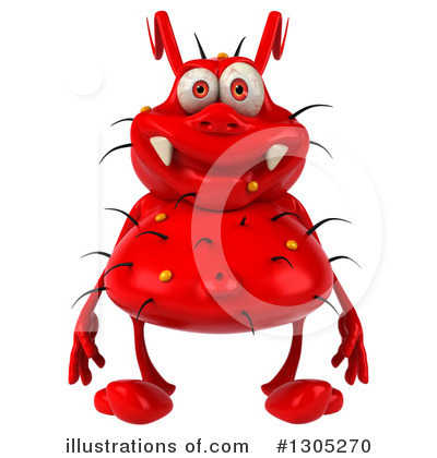 Red Germ Clipart #1305270 by Julos