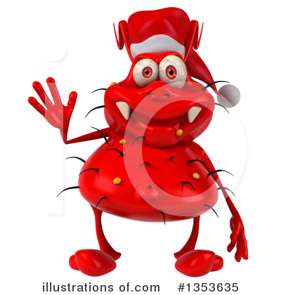Red Virus Clipart #1353635 by Julos