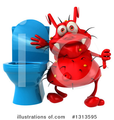 Red Germ Clipart #1313595 by Julos