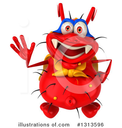 Red Virus Clipart #1313596 by Julos