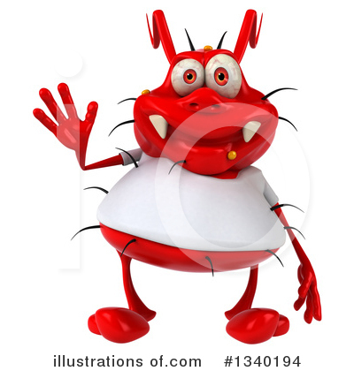 Red Germ Clipart #1340194 by Julos