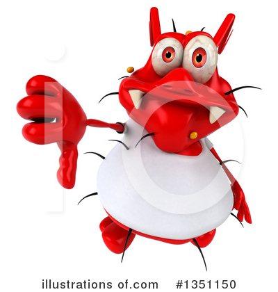 Royalty-Free (RF) Red Virus Clipart Illustration by Julos - Stock Sample #1351150