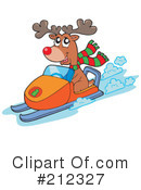 Snowmobile Clipart 1048283 Illustration by toonaday