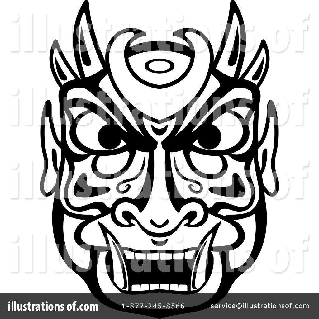Royalty Free (RF) African Mask Clipart Illustration #1066338 By Vector  Tradition SM