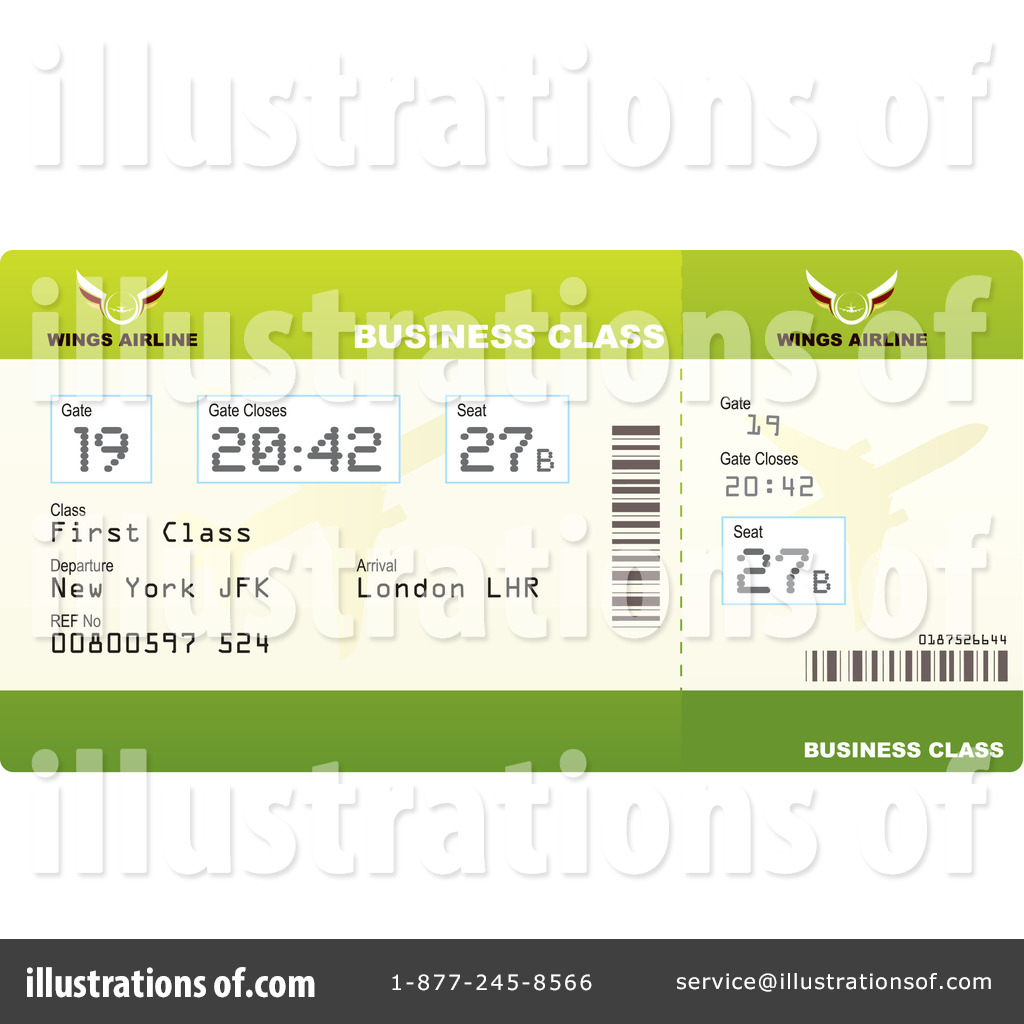Royalty Free RF Airplane Ticket Clipart Illustration 1049389 By Michaeltravers