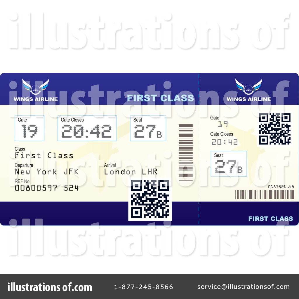 Royalty Free RF Airplane Ticket Clipart Illustration 1092031 By Michaeltravers