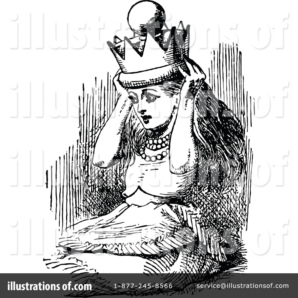 Alice In Wonderland Clipart #1180401 - Illustration by ...