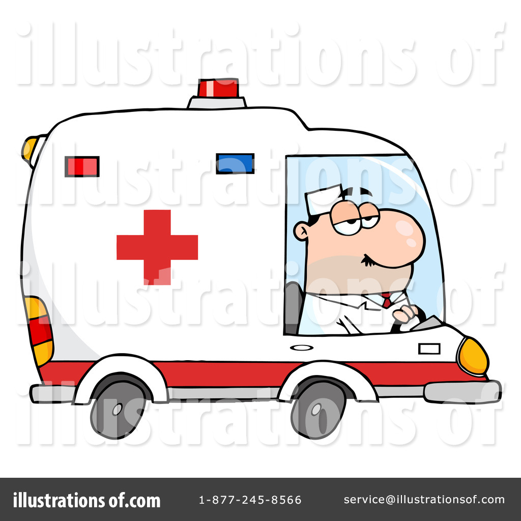 Ambulance Clipart #223263 - Illustration by Hit Toon | {Ambulance clipart 38}