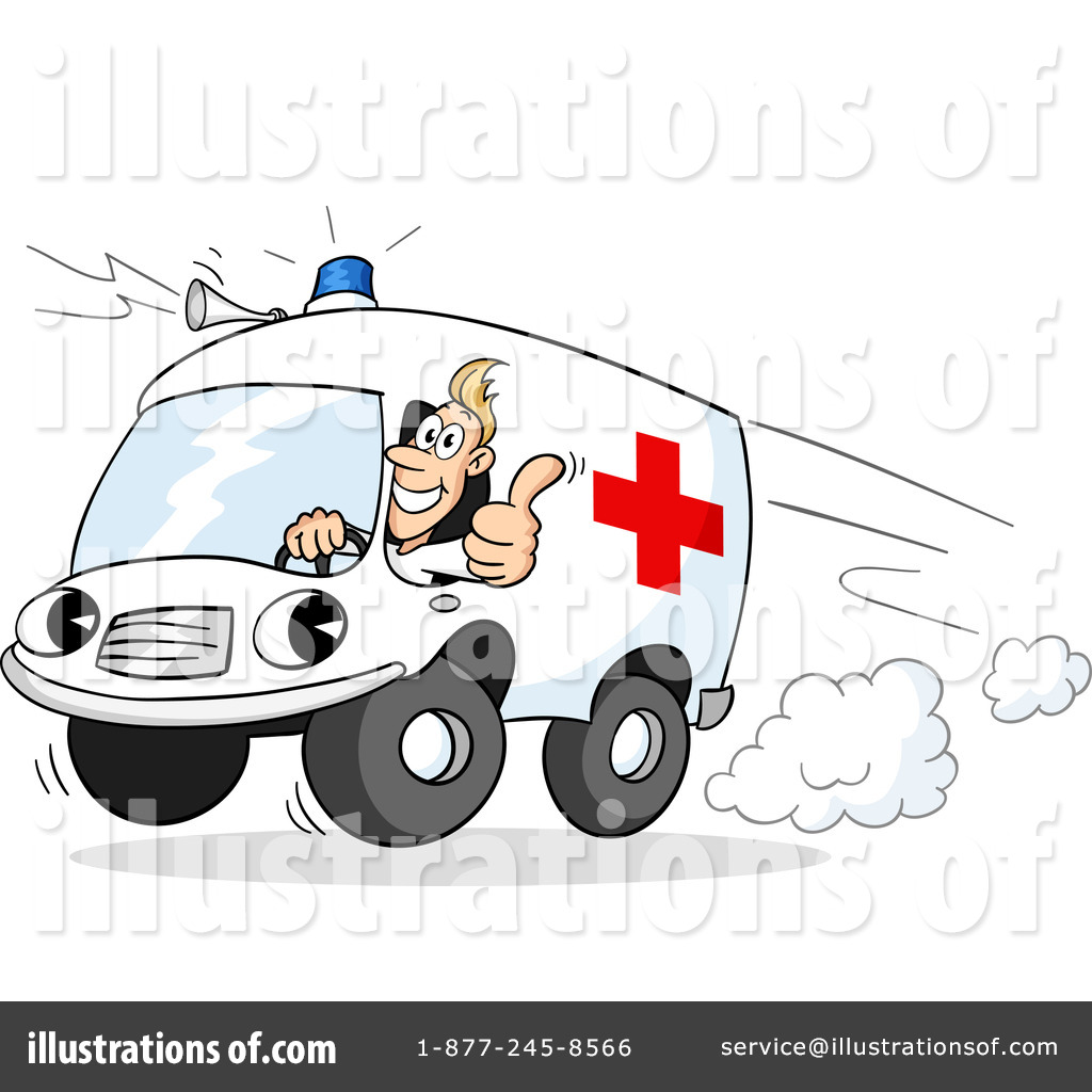 Ambulance Clipart #1201954 - Illustration by Holger Bogen