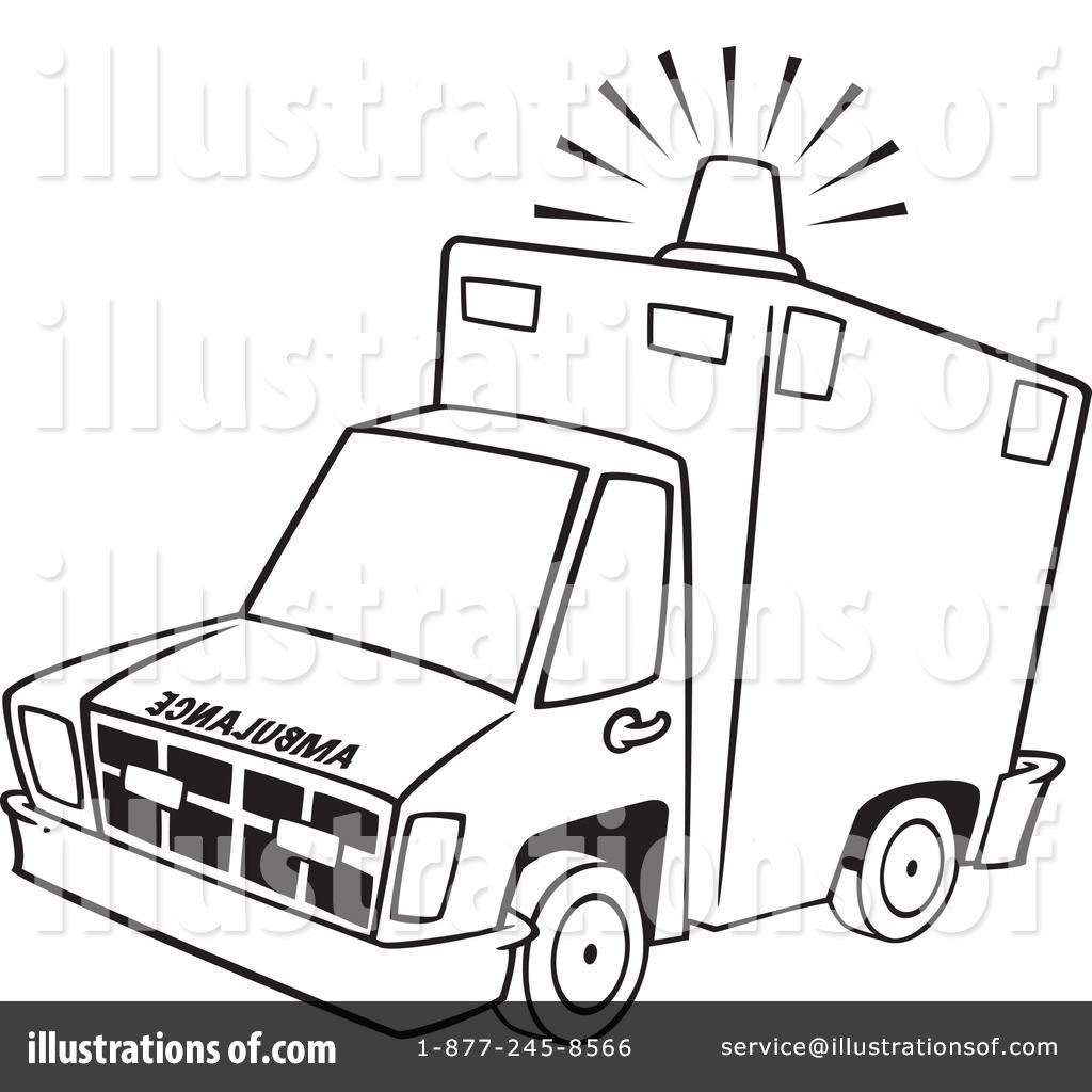 Ambulance Clipart #1100816 - Illustration by Ron Leishman