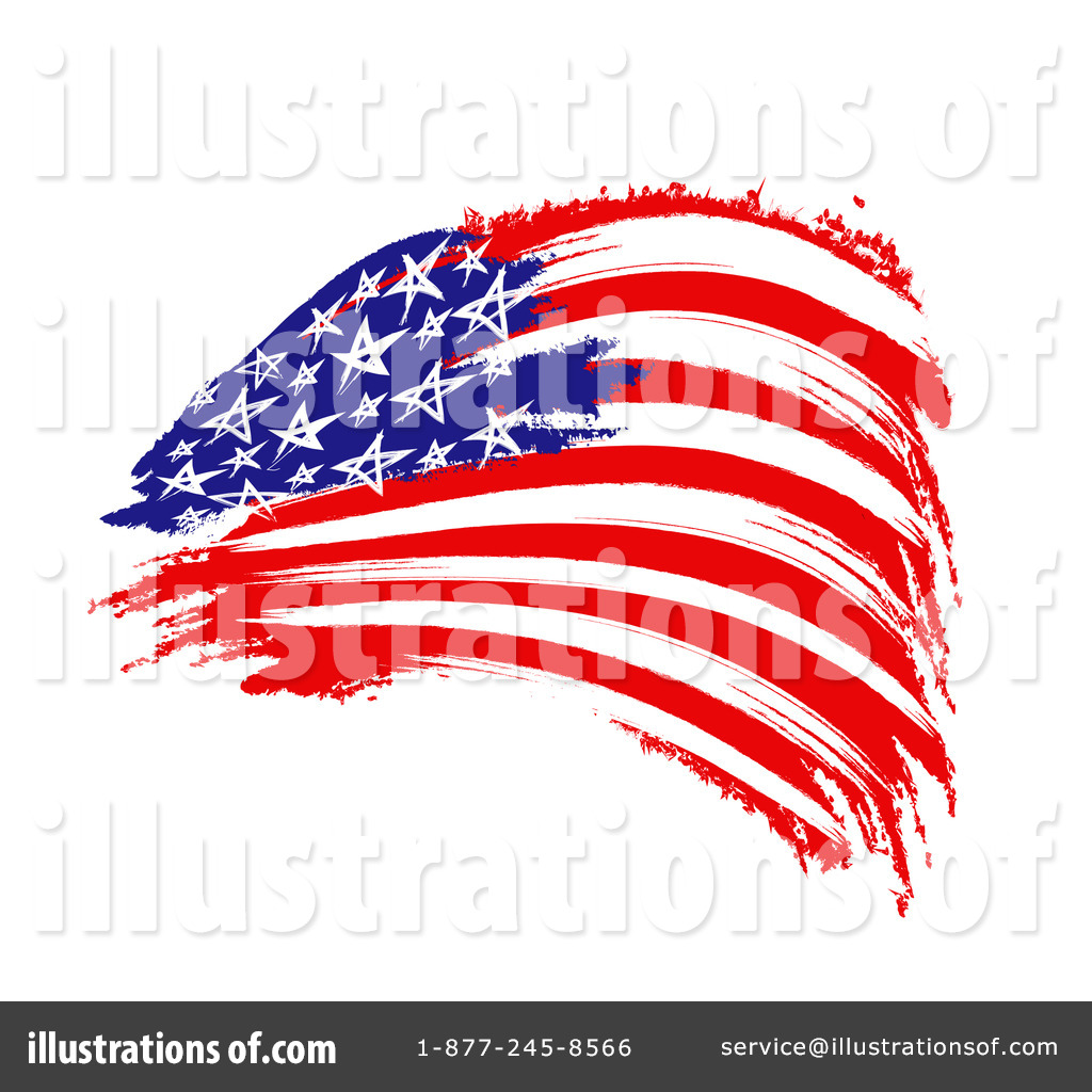 American Flag Clipart #1130515 - Illustration by MacX