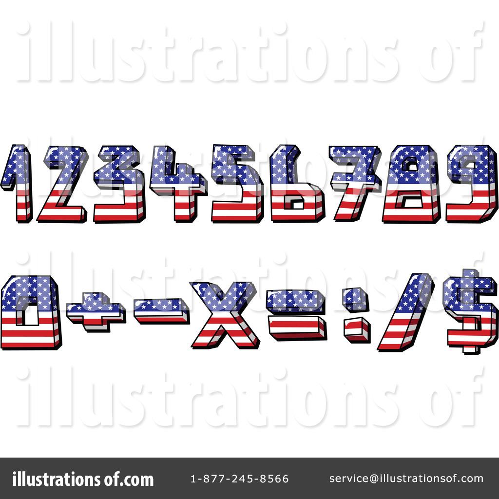 American Flag Symbols Clipart #1065529 - Illustration by yayayoyo