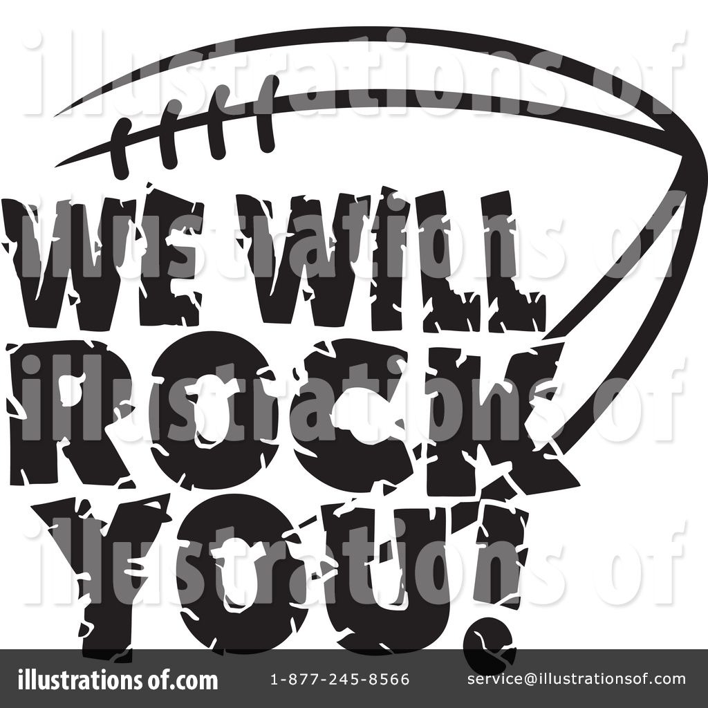 American Football Clipart 1385192 Illustration By Johnny
