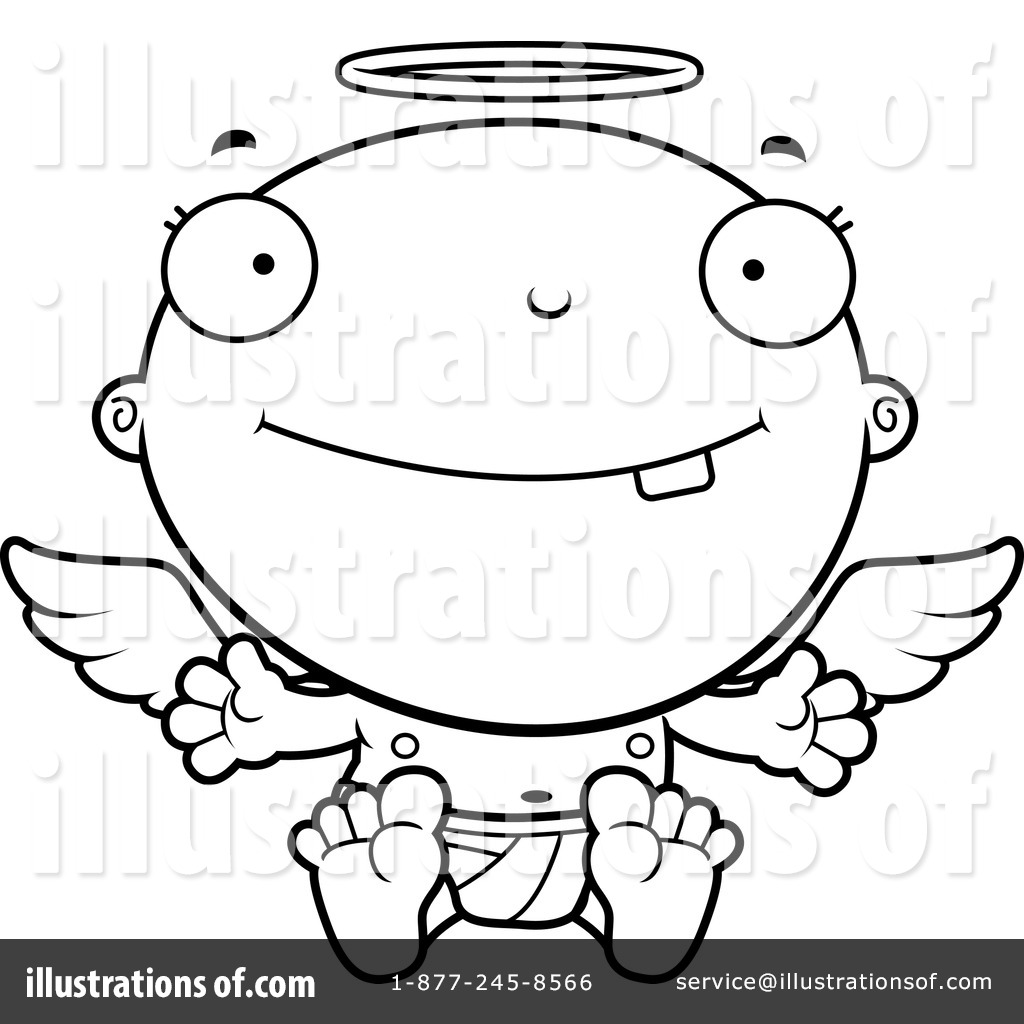 Angel Baby Clipart #1207964 - Illustration by Cory Thoman