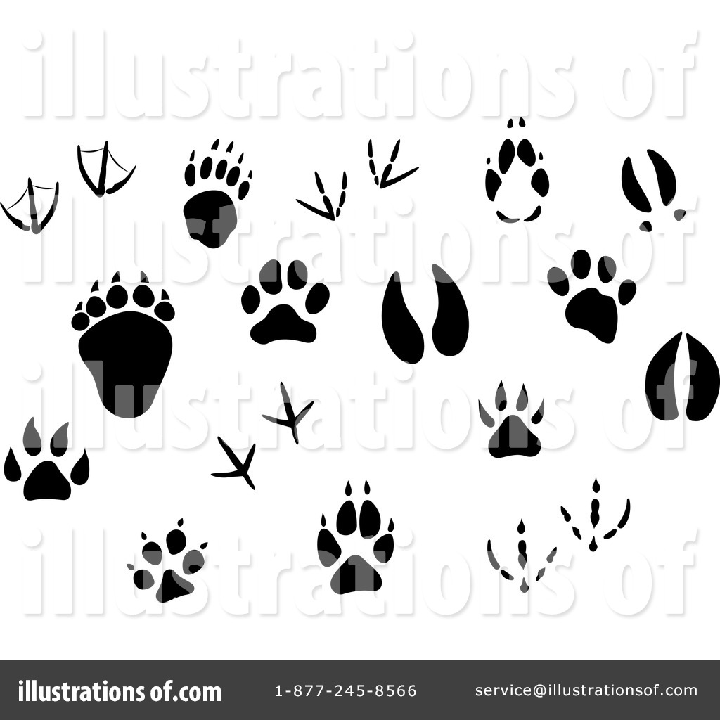 animal tracks clipart 1154499 illustration by vector tradition sm rh illustrationsof com animal footprint clipart animal footprint clipart