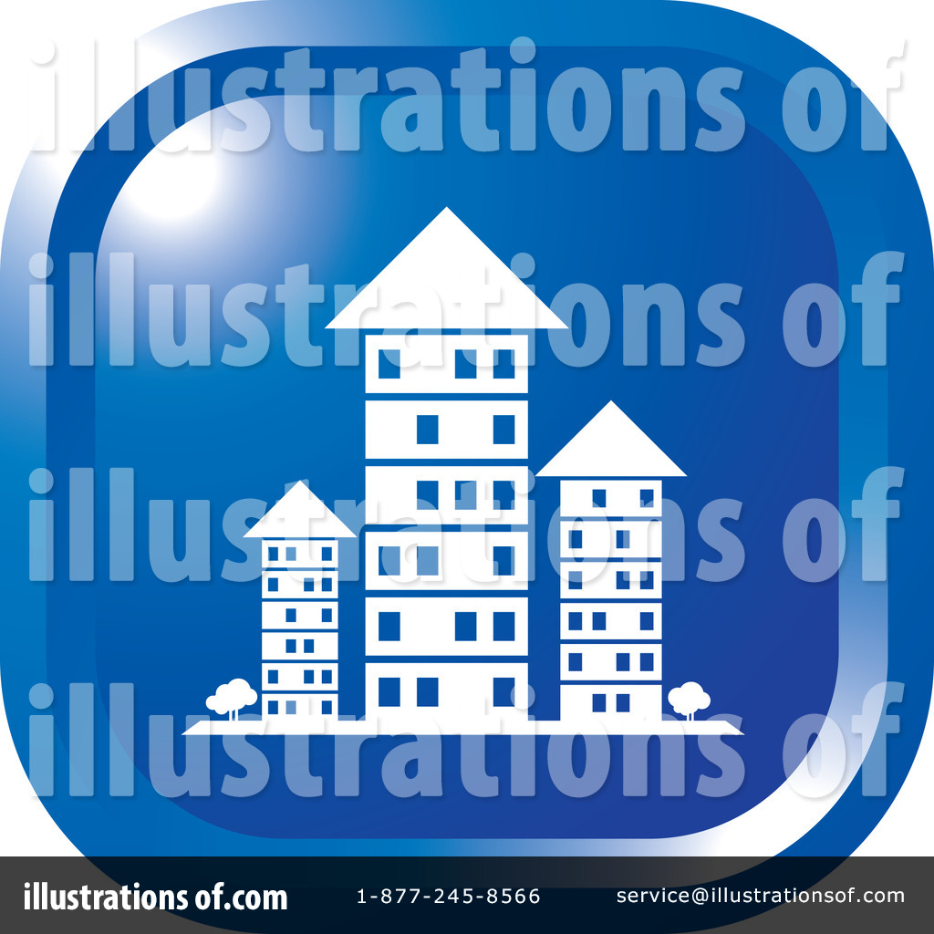 Apartments Clipart #1104766 - Illustration by Lal Perera