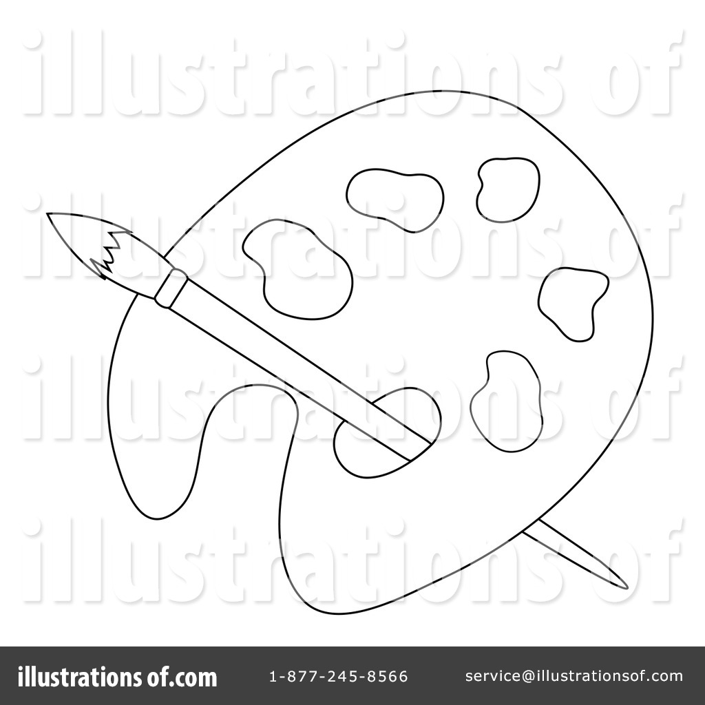 Artist Palette Clipart #84822 - Illustration by Pams Clipart