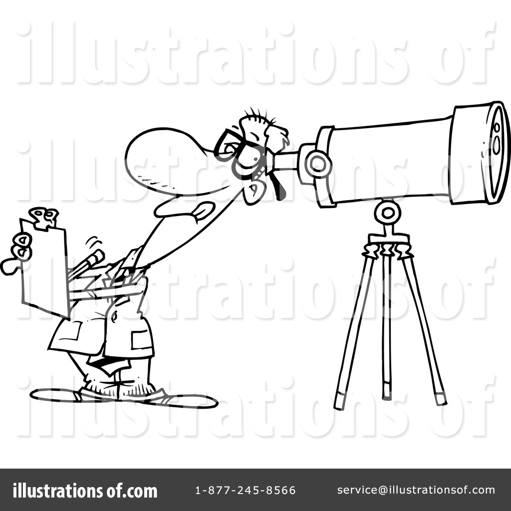 Royalty Free RF Astronomer Clipart Illustration 439571 By Toonaday
