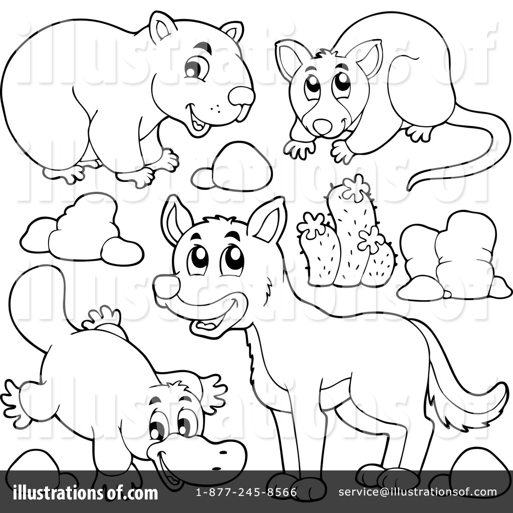 85 Australian Animals Coloring Book