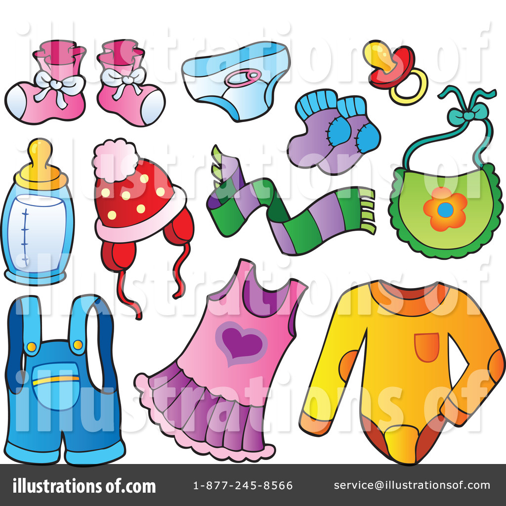 baby items clipart 1081659 illustration by visekart rh illustrationsof com baby items clipart images baby clothes clipart
