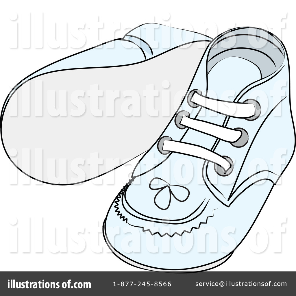 Baby Shoes Clipart #62468 - Illustration by Pams Clipart