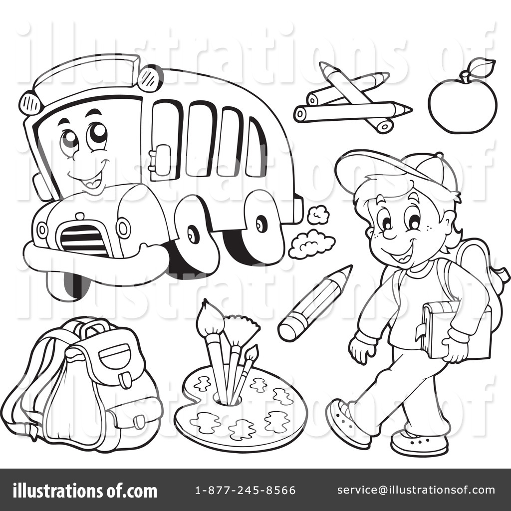 back to school clipart #1077518 - illustration by visekart
