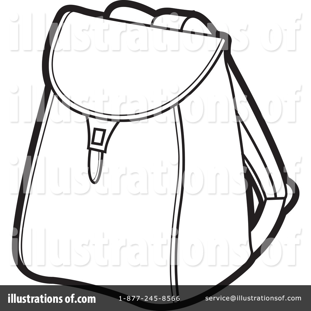Coloring book bag - Royalty Free Rf Backpack Clipart Illustration 227970 By Lal Perera
