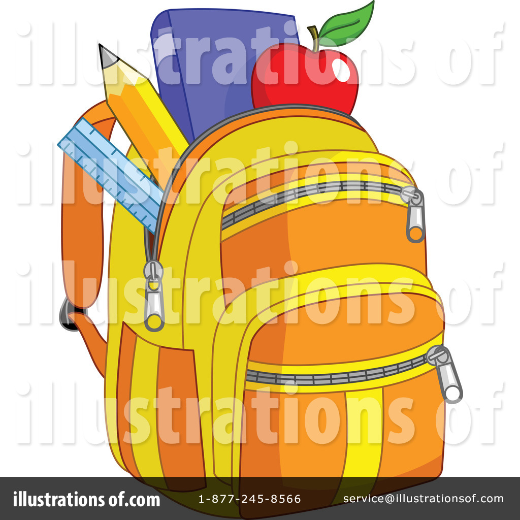 Backpack Clipart #1068762 - Illustration by yayayoyo