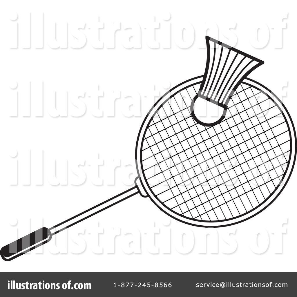 Badminton Clipart #1242404 - Illustration by Lal Perera