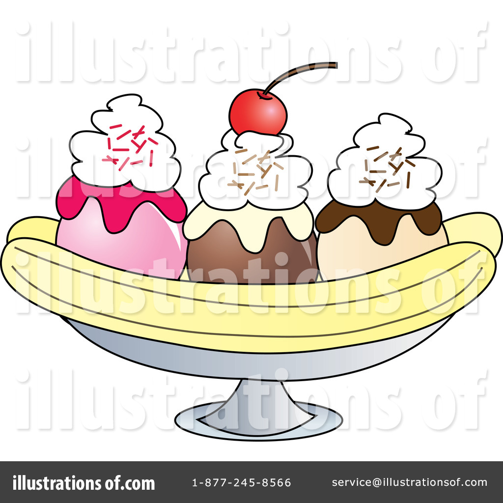 banana split clipart 432646 illustration by pams clipart
