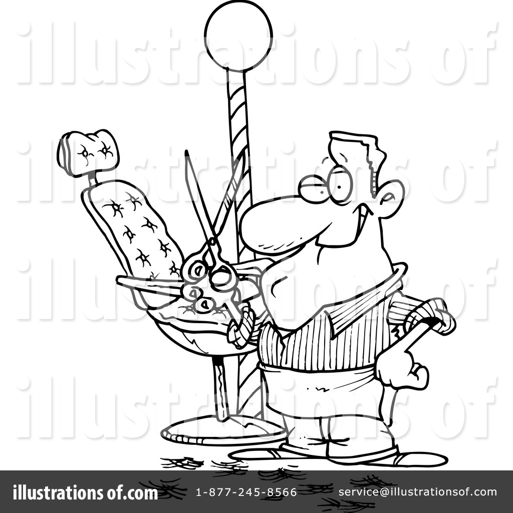 Royalty Free RF Barber Clipart Illustration 440575 By Toonaday