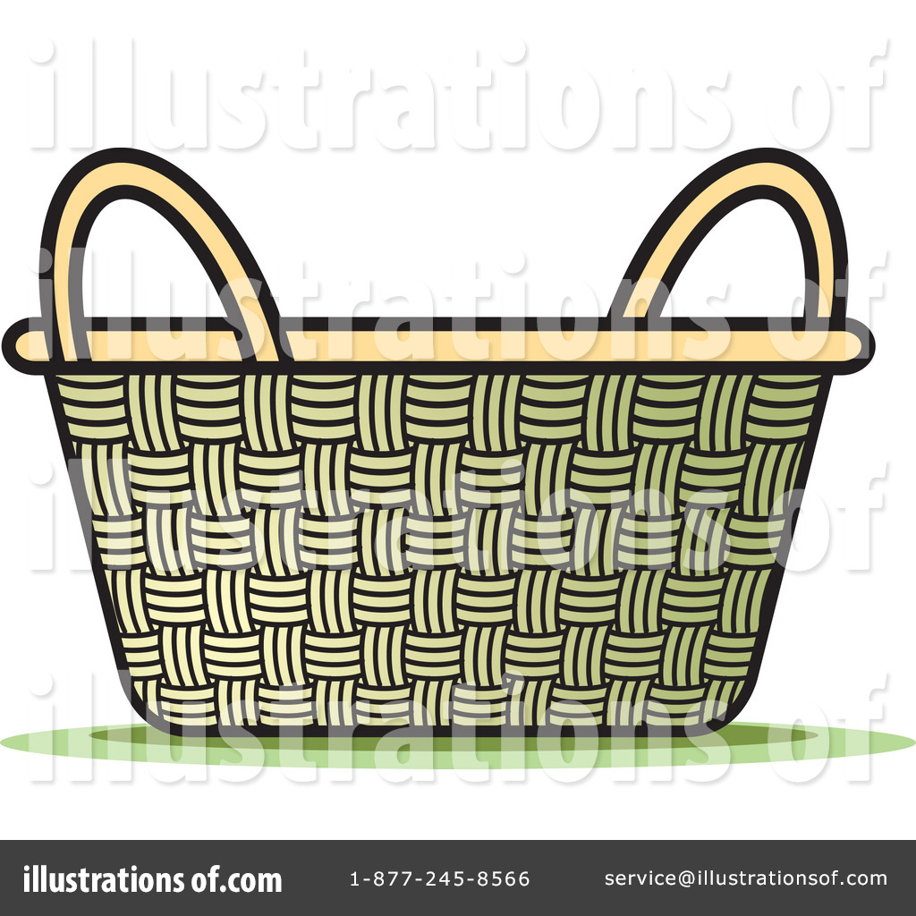 Basket clipart 217599 illustration by lal perera for Clipart basket