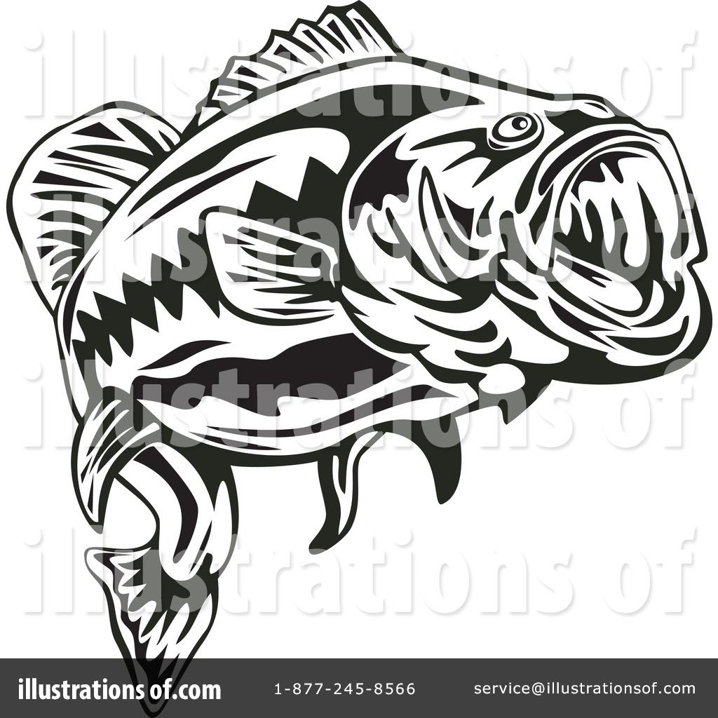bass fish clipart 1131152 illustration by patrimonio rh illustrationsof com bass fish clip art black and white bass fish clip art black and white