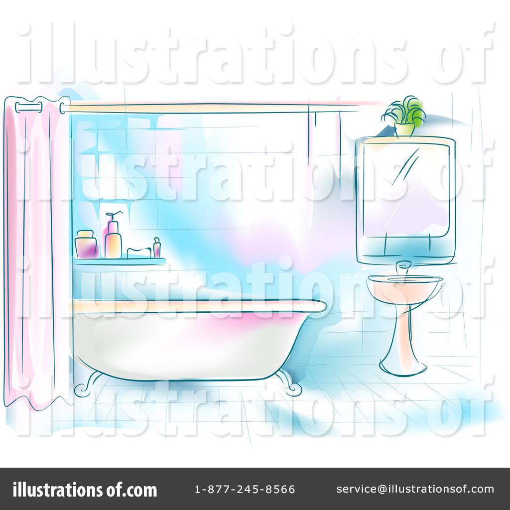 Delightful Royalty Free (RF) Bathroom Clipart Illustration By BNP Design Studio    Stock Sample