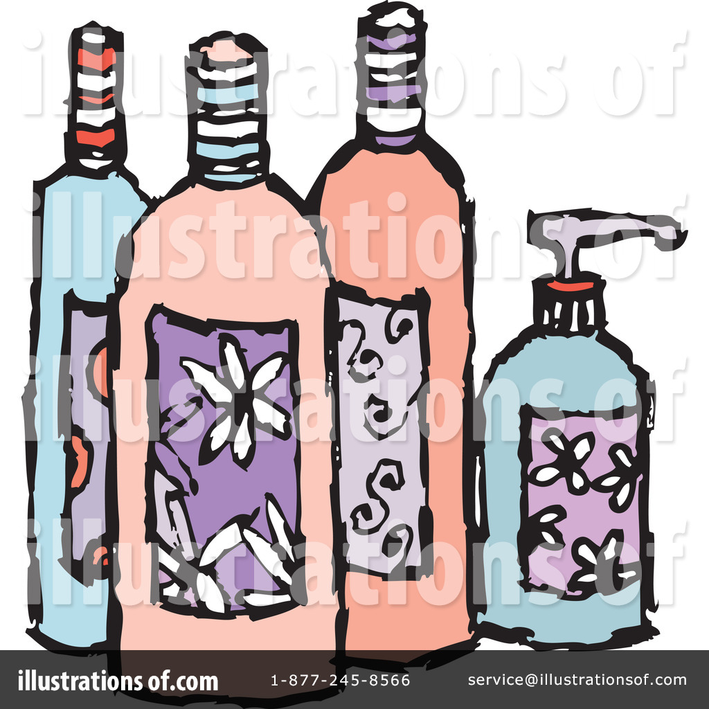 Royalty Free RF Beauty Products Clipart Illustration By Steve Klinkel