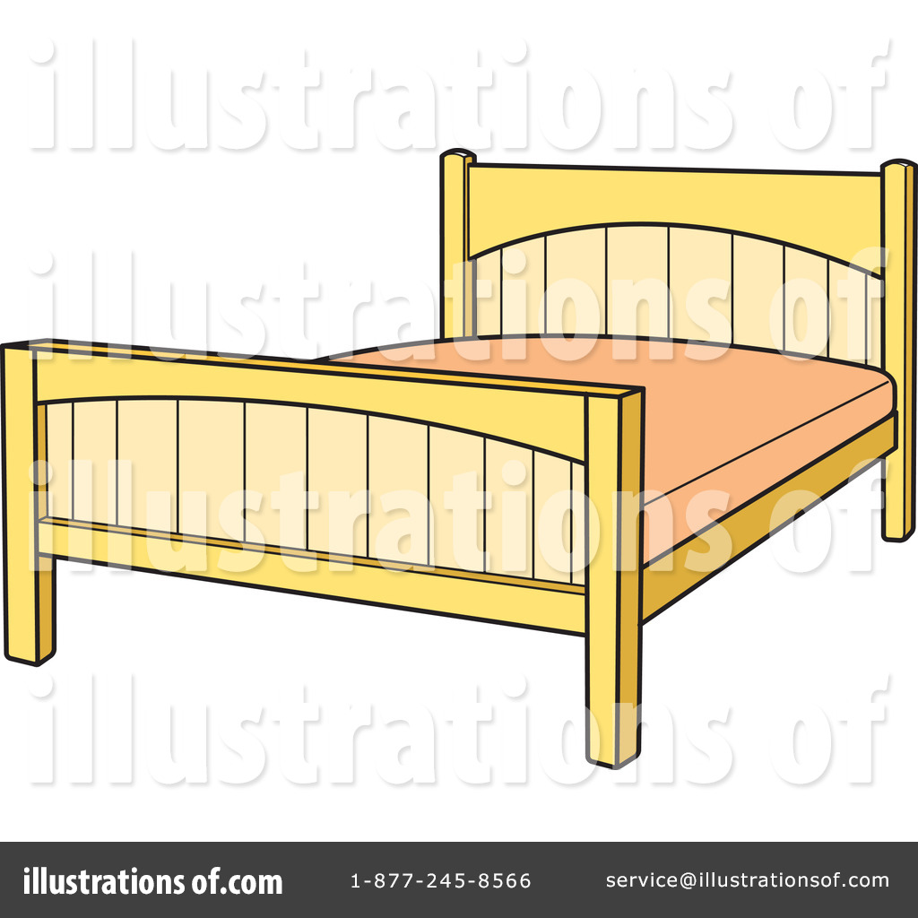 Bed Clipart #100266 - Illustration by Lal Perera