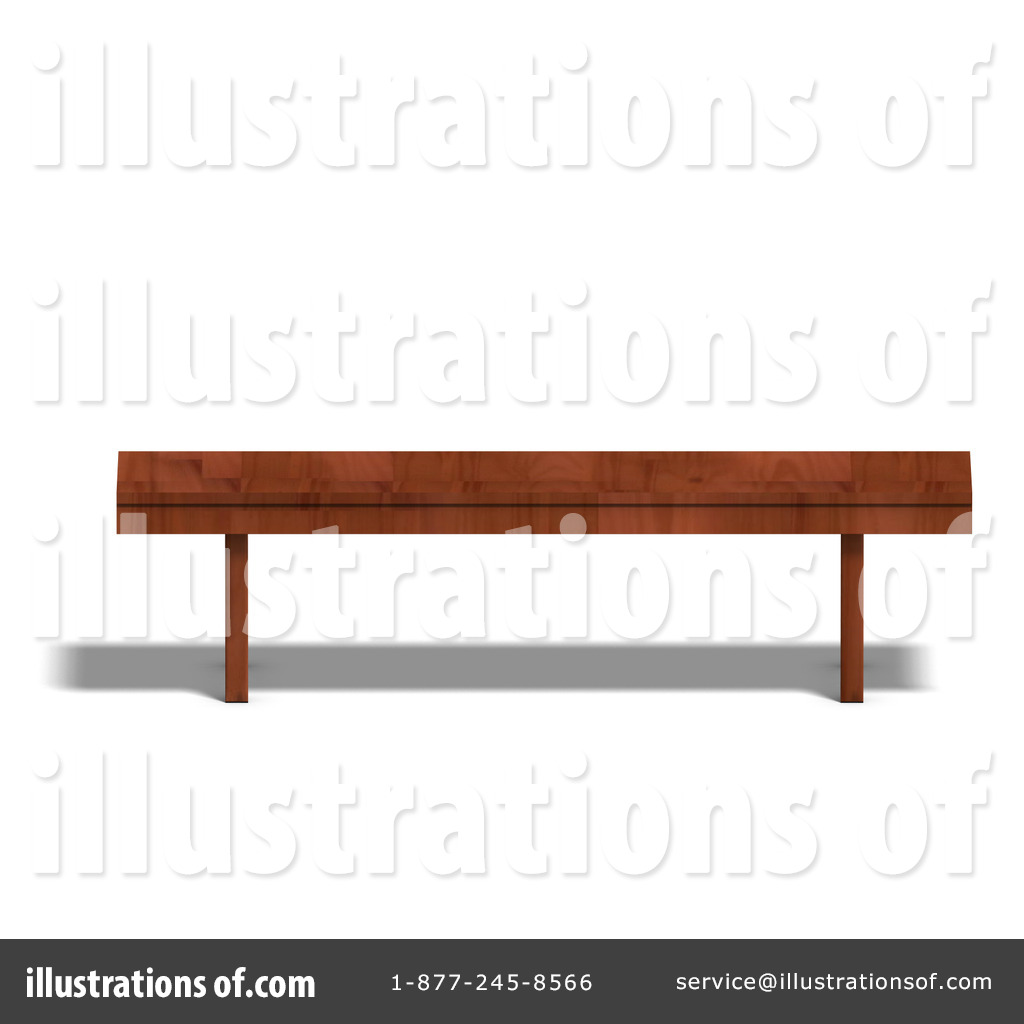 Lobby Bench Clip Art ~ Bench clipart illustration by ralf