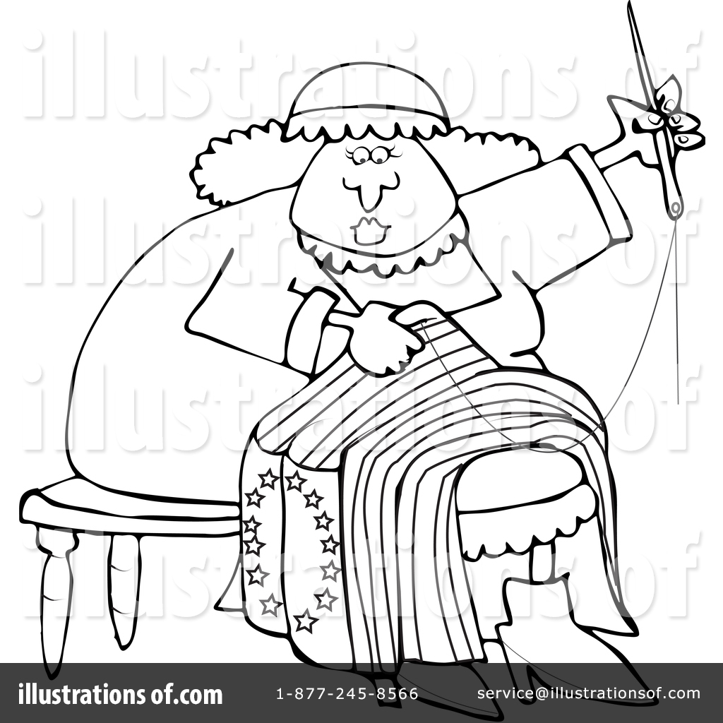 betsy ross clipart 1409541 illustration by djart