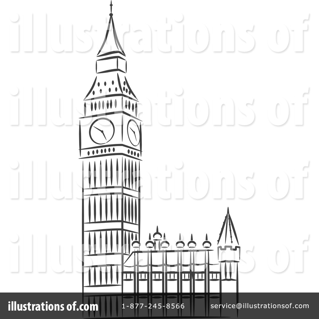 big ben clipart 1214815 illustration by vector tradition sm rh illustrationsof com big ben clipart png big ben clipart black and white