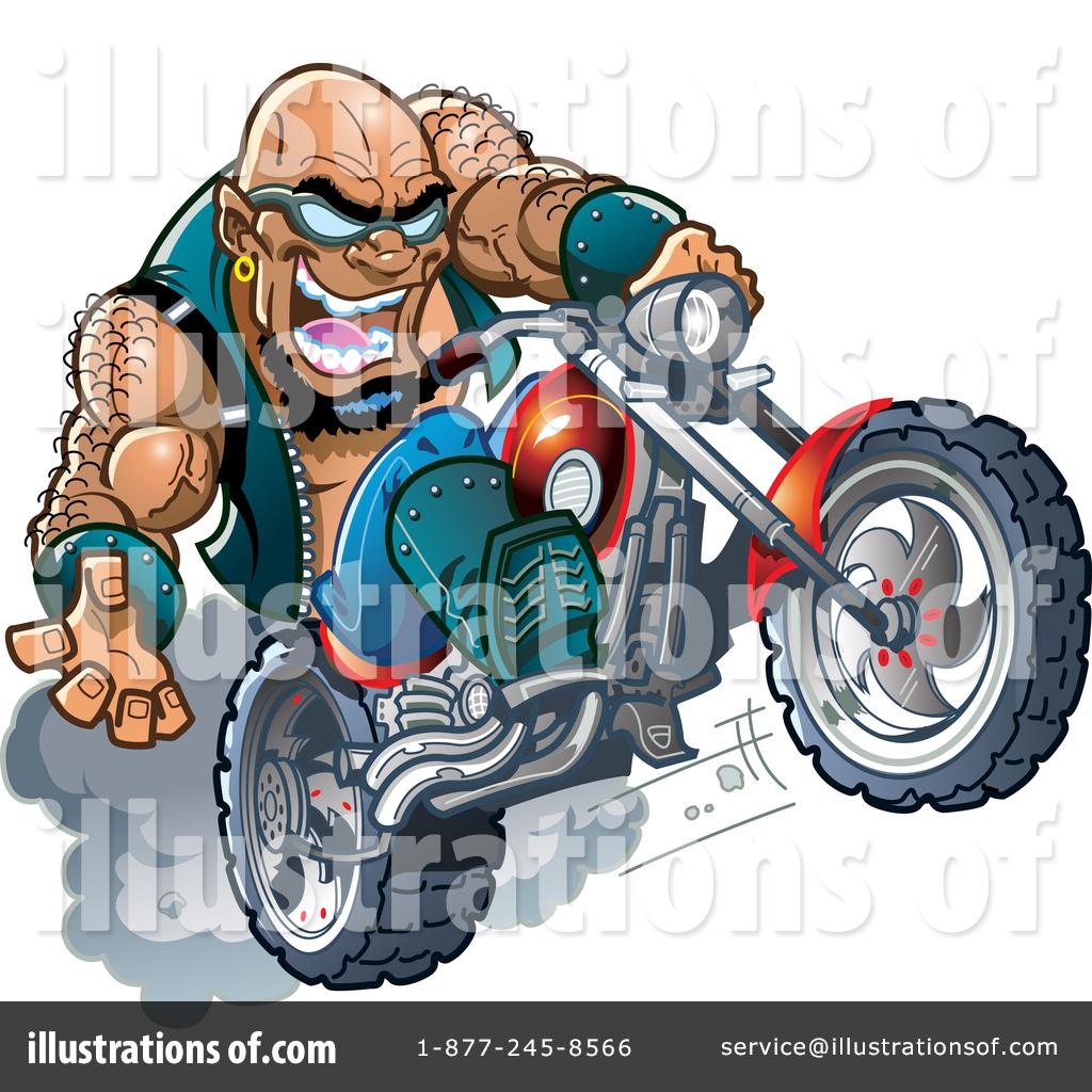 Biker Clipart #1468108 - Illustration by dero
