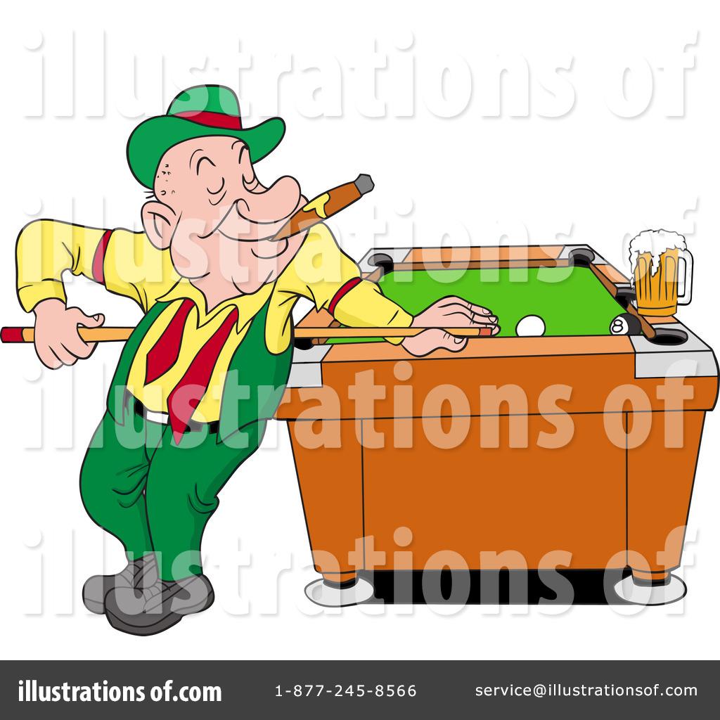 Billiards Clipart #1217137 - Illustration by LaffToon