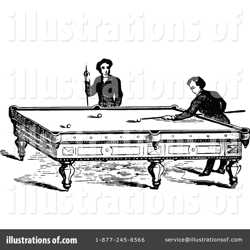 Billiards Clipart #1118588 - Illustration by Prawny Vintage