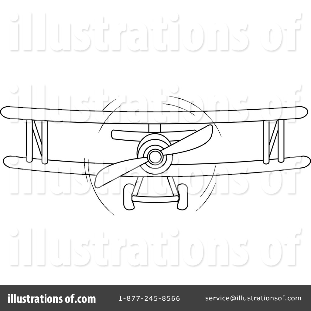 Biplane Clipart #212278 - Illustration by Pams Clipart